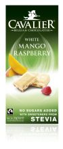 Stevia White Chocolate Mango & Raspberries Bar 85g By Cavalier
